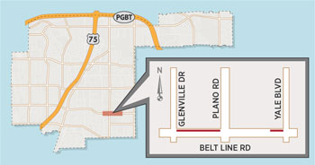Utility Work May Affect Belt Line Road Near Yale Boulevard, Plano Road