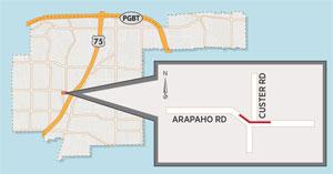 Evening Lane Closure Near Arapaho/Custer