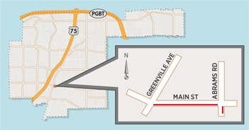 New Lane Closures in Main Street Area