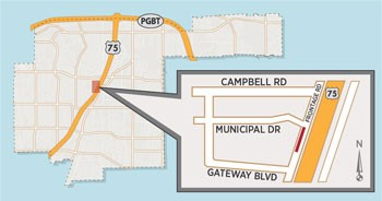 Cable Install to Cause Lane Closure on US 75 Frontage Road