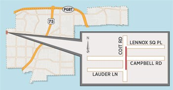 Lane Closure Expected on Coit Road Near Campbell Road