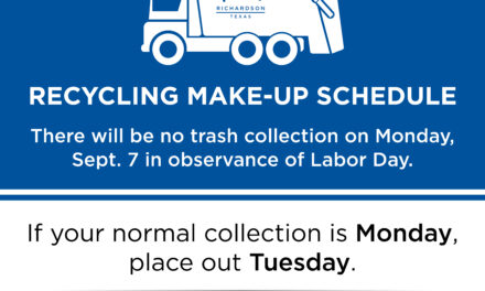 Trash, Recycling and Facility Schedule for the Sept. 7 Labor Day Holiday