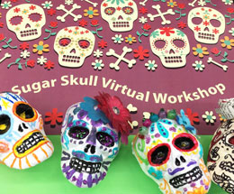 """Day of the Dead"" Sugar Skull Workshop Now Available on Facebook"