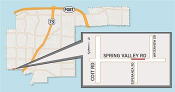 Utility Work on Spring Valley Road May Close Lane, Sidewalk
