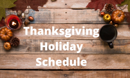 For the Thanksgiving holiday Nov. 26-27, City facilities and services will operate according to the following holiday schedule.