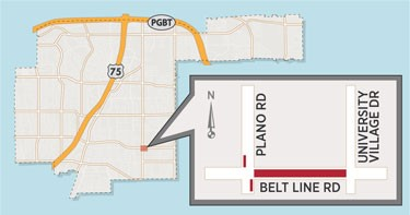 Lane Closures Expected Near Intersection of Plano/Belt Line Roads