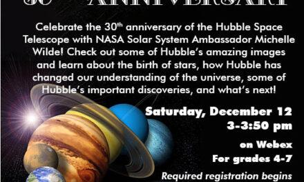 Celebrate Hubble Space Telescope's 30th Anniversary Dec. 12