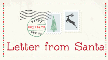 """Letter From Santa"" Registration Deadline is Dec. 7"
