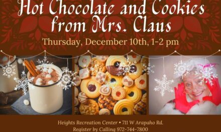 """Hot Chocolate and Cookies with Mrs. Claus"" Senior Event Dec. 10"