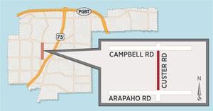 Custer Road Lane Closures in Northrich Area Expected Dec. 16