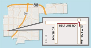 Lane Closures Expected Near Belt Line/Waterview