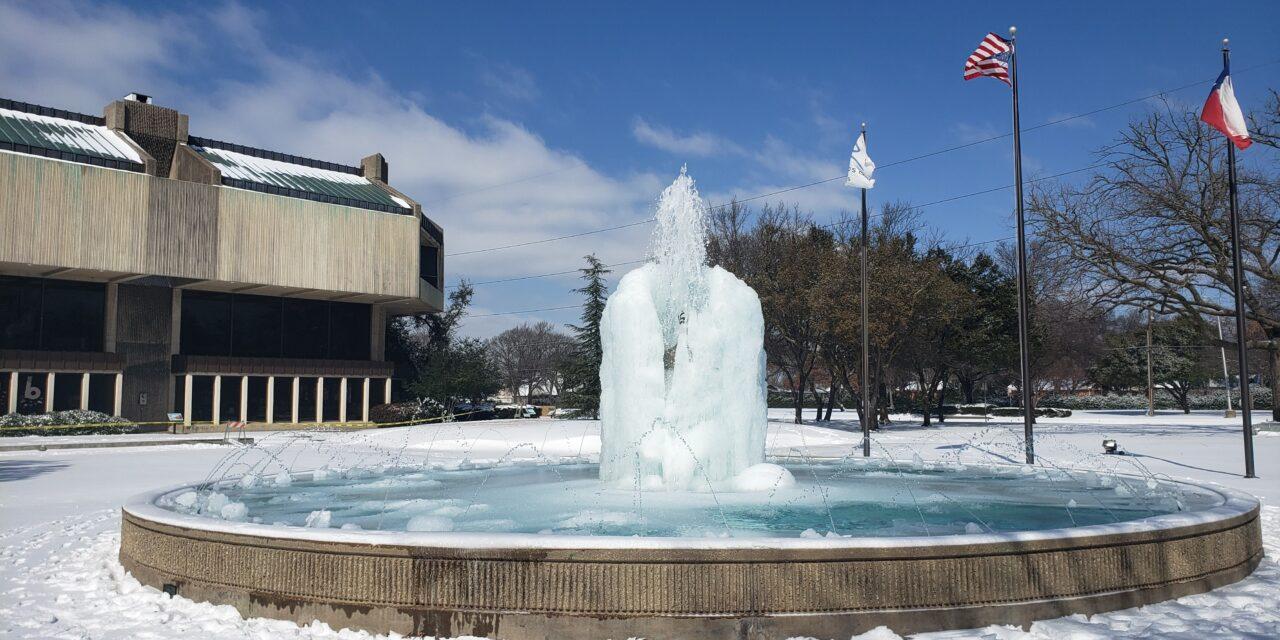 City Hall Fountain Freezes, Makes interNational News
