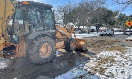 Water Main Breaks Under Repair in Richardson