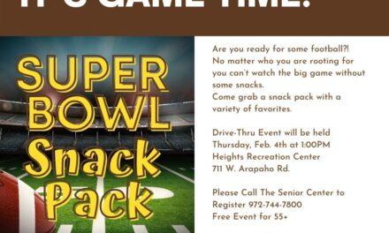 Drive-thru Super Bowl Snack Packs Available for Seniors