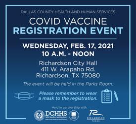 Vaccine Registration Event in Richardson Feb. 17