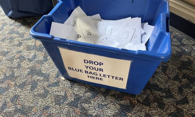Blue Bag Letters Mailed out
