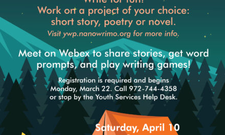 """Register Now for April 10 """"Camp Write-In"""""""