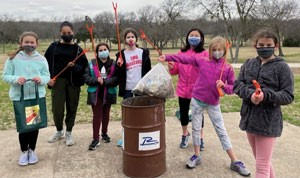 Girl Scouts Clean Up Duck Creek, Breckinridge Parks