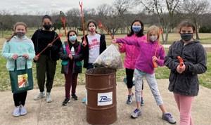 Girl Scouts Clean Up Duck Creek, Breckinridge Parks
