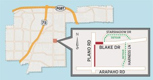 Lane Closures Expected North of Plano/Arapaho Intersection