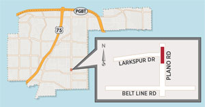 Crossing Improvements Scheduled for Plano Road at Larkspur Drive