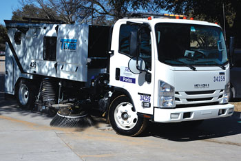 Parks Department Completes Street Sand Cleanup
