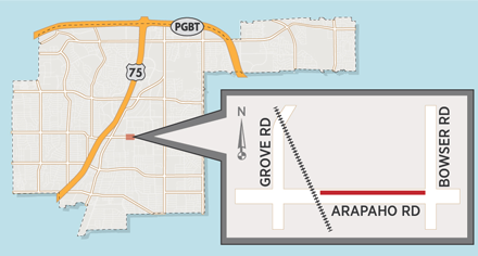 Utility Work May Cause Lane Closure on Arapaho Road near Bowser