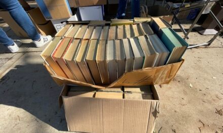 Used Book Collection at Trash Bash Benefits Library