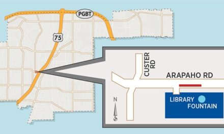 Lane on Eastbound Arapaho to Temporarily Close Near Library