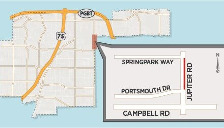 Utility Work to Close Lane on Jupiter Road North of Campbell Road