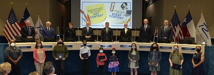 Essay and Art Contest Winners Recognized at City Council Meeting