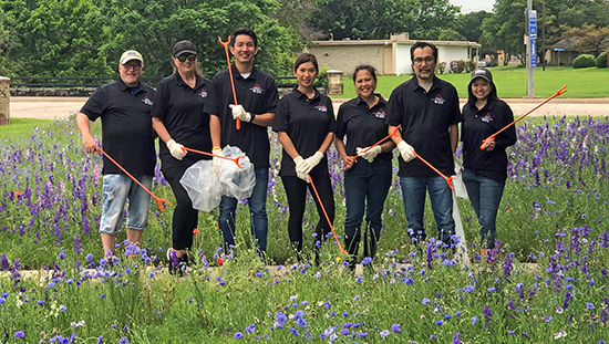 Real Estate Association Cleans Up Huffhines Park