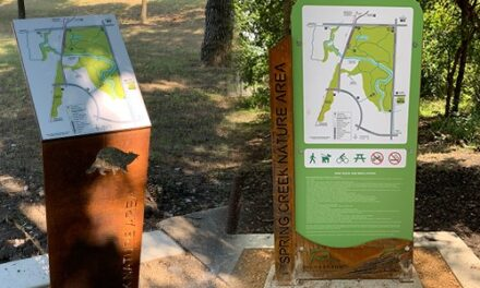 Wayfinding Signs Installed at Spring Creek Nature Area