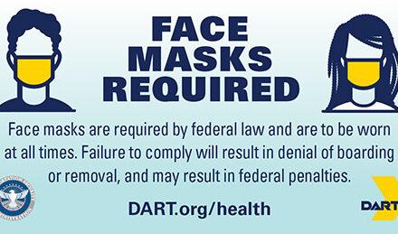 DART Extends Face Mask Requirement