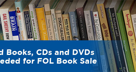 Reuse Books, Other Media by Donating to Upcoming FOL Book Sale