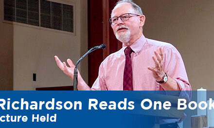 """""""Richardson Reads One Book"""" Lecture Held"""