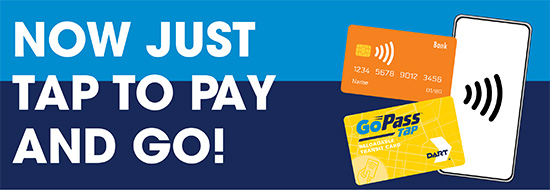 DART Now Accepting Contactless Payment