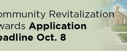 Community Revitalization Awards Application Deadline Oct. 8