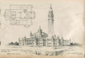 Carnegie library competition, Pittsburgh, Pennsylvania. (William Eckert / Library of Congress)