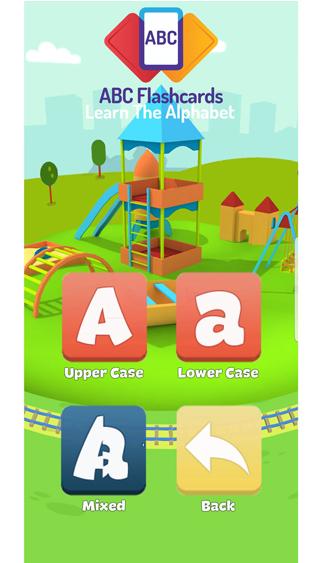 alphabet flash cards - 2nd home screen