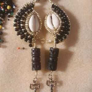 3 Tiered Embellished Cowrie Shells