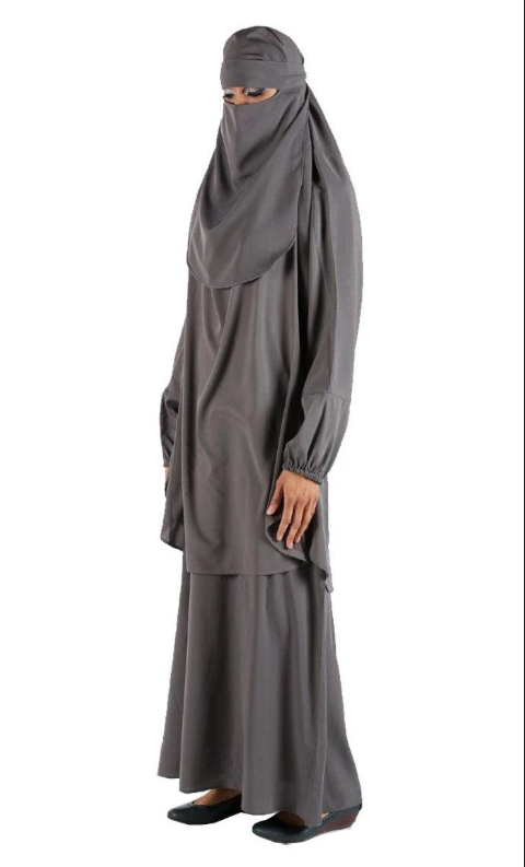 Casual wear niqabh and lining set