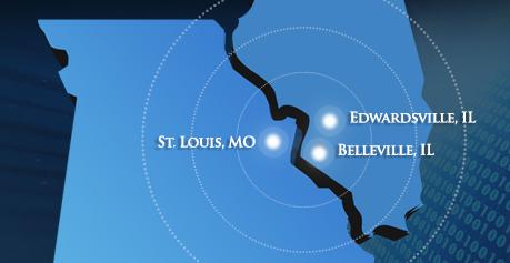 Missouri-Illinois-Map
