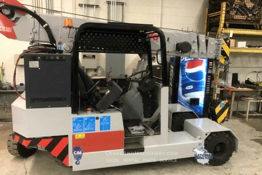 Used Manitex Valla 90E for sale or rent in North America. Electric Pick & Carry 9 mt capacity - 19,800 lb capacity, 21,000 lb total weight. Learn more...
