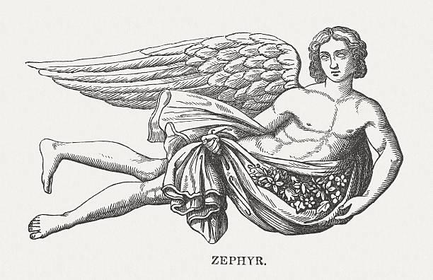 Imagem do deus Zephyrus