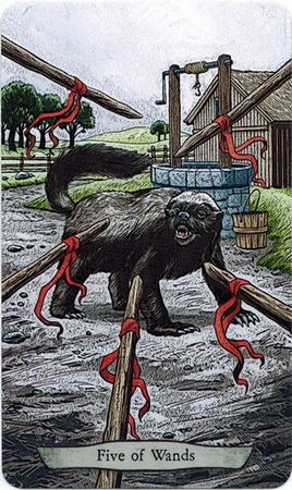 Animal Totem Tarot - agressividade