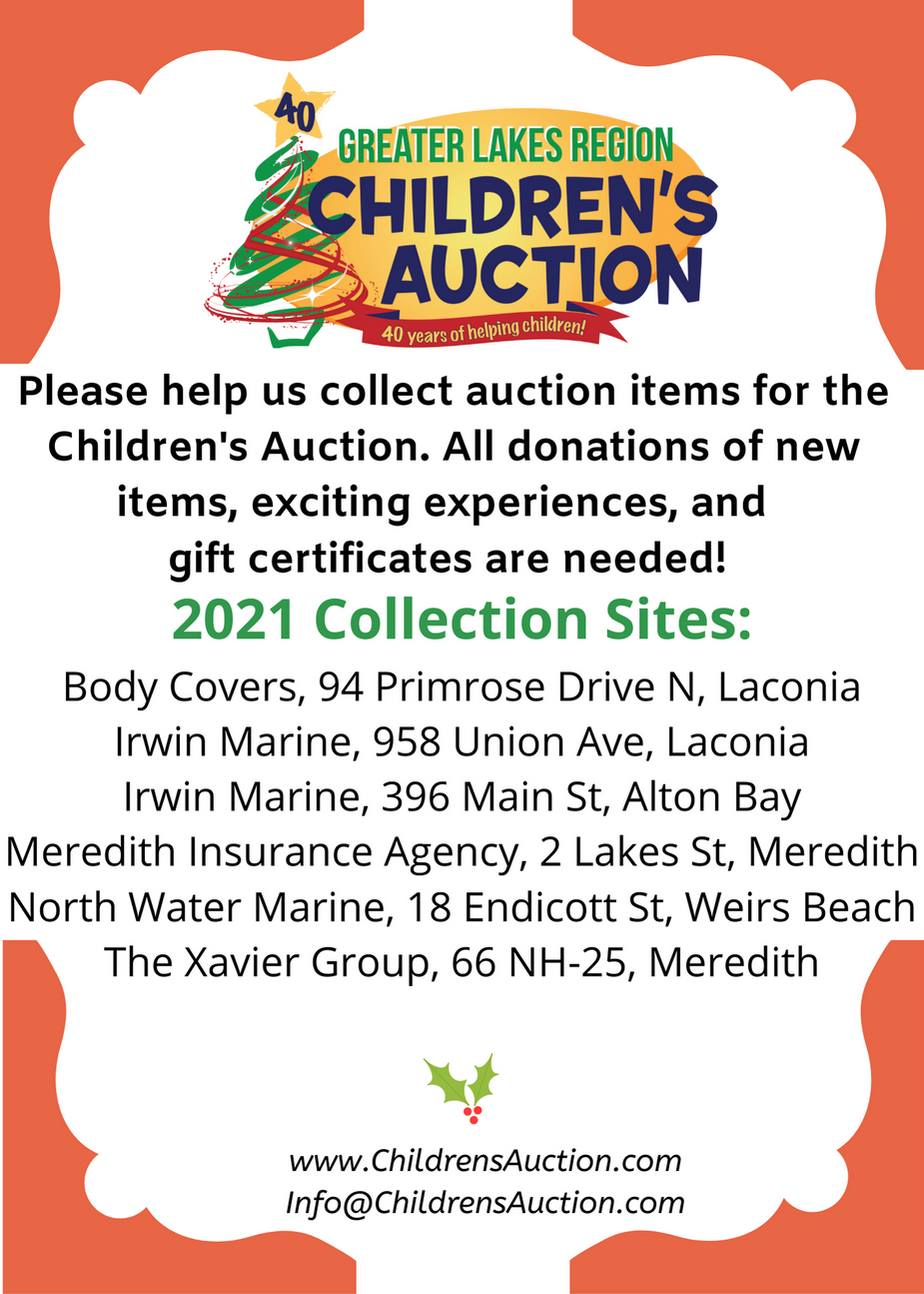 Greater Lakes Region Childrens Auction Drop Off