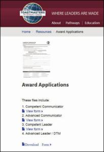 Award Applications