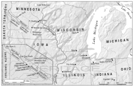 Map 2. Midwestern United States, 1858.