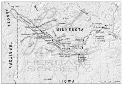 Map 7. Minnesota and Santee Reservation, 1866.
